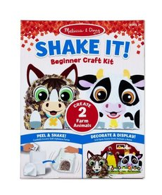 Melissa & Doug Shake It! Beginnner Craft Kit-Farm