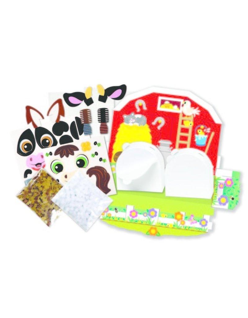 Melissa & Doug Shake It! Beginnner Craft Kit-Farm