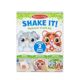 Melissa & Doug Shake It! Beginner Craft Kit-Safari