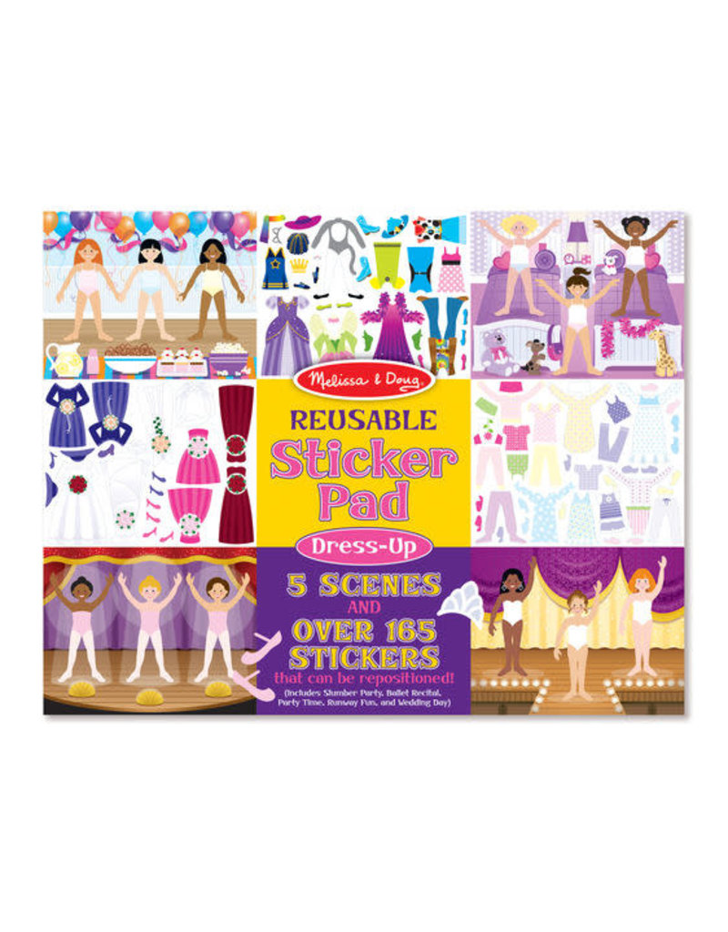Melissa & Doug Reusable Sticker Pad-Dress Up