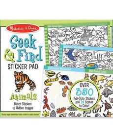 Melissa & Doug Seek & Find Sticker Pad-Animals