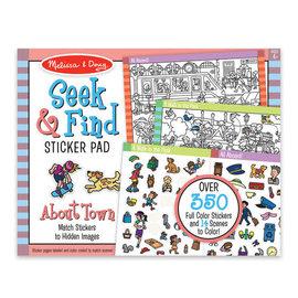 Melissa & Doug Seek & Find Sticker Pad-Around Town