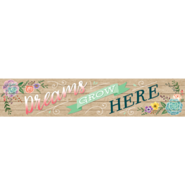 Rustic Bloom Dreams Grow Here Banner