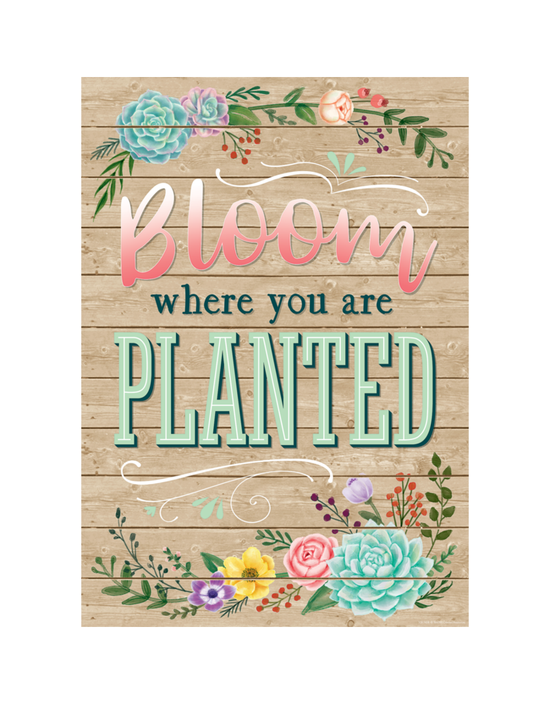 Rustic Bloom Bloom Where You Are Planted-Poster