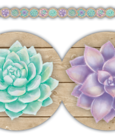 Succulents Border Trim