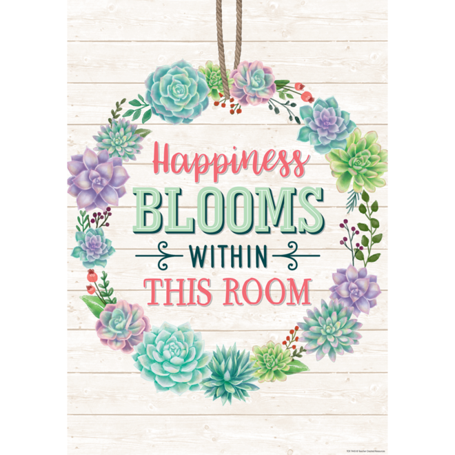 Rustic Bloom Happiness Blooms Within This Room