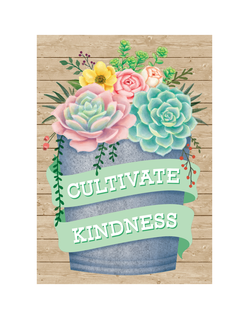 Rustic Bloom Cultivate Kindness Poster