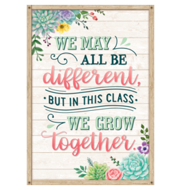 Rustic Bloom We May All Be Different Poster