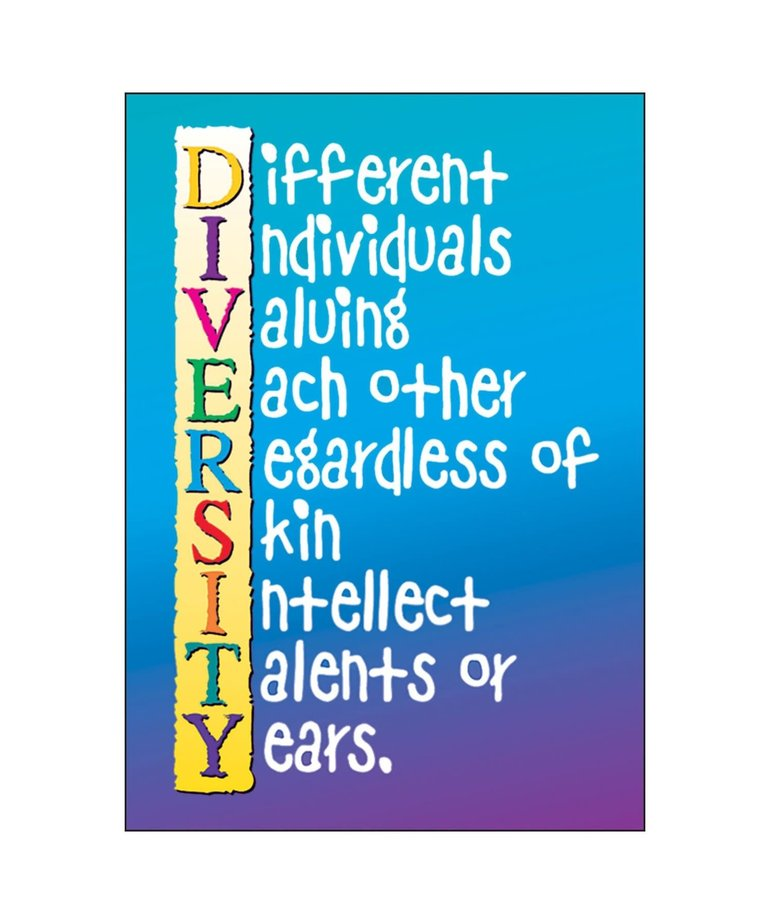 Diversity (blue/purple)-Poster