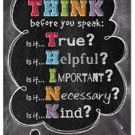 Think Before You Speak-Poster