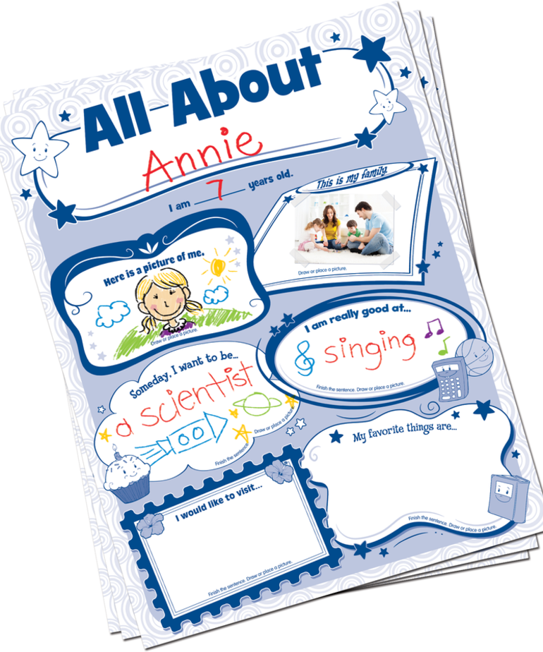 All About Me Poster Pack