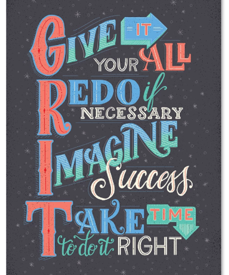 Give it Your All (GRIT)-Poster