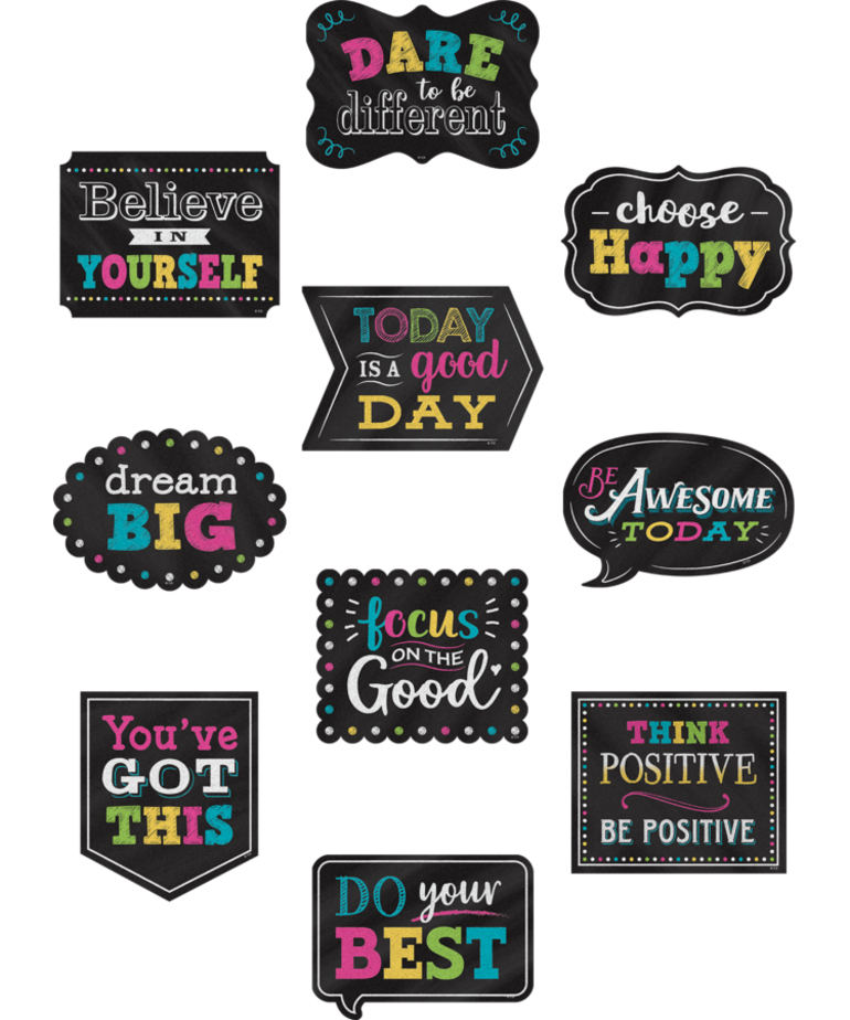 Chalkboard Brights Postive Sayings Accents