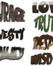 7 Teachings-Words Poster (set)