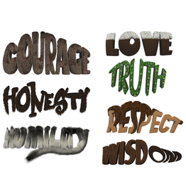 7 Teachings-Words Poster (set)