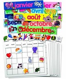 French Calendar Set