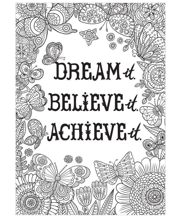 Dream It. Believe It. Achieve It.-Color Me-Poster
