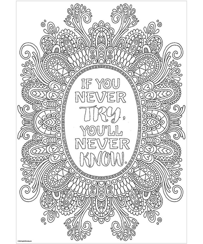 If You Never Try...-Color Me-Poster