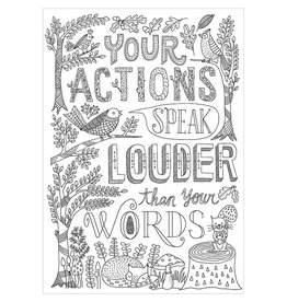Your Actions Speak Louder-Color Me-Poster