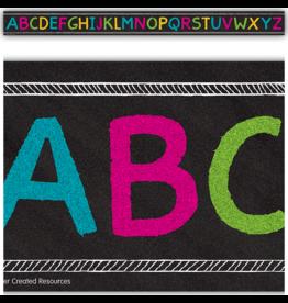 Chalkboard Brights Alphabet Trim