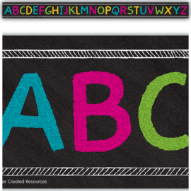 Chalkboard Brights Alphabet Trim