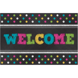 Chalkboard Brights Welcome Postcard