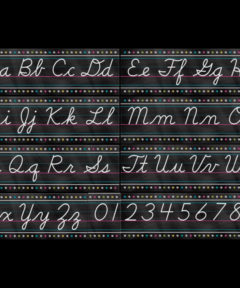 Cursive Writing Bulletin Board