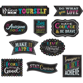 Chalkboard Brights Clingy Thingies Postive Sayings