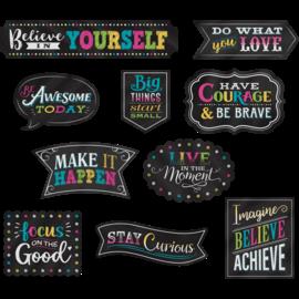 Chalkboard Brights Clingy Thingies Postive Sayings