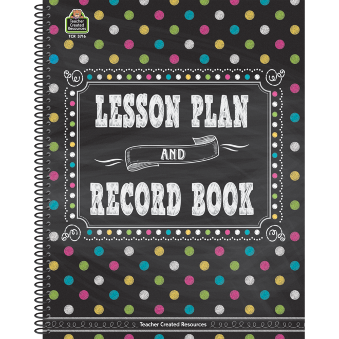 Chalkboard Brights Lesson Planner and Record Book