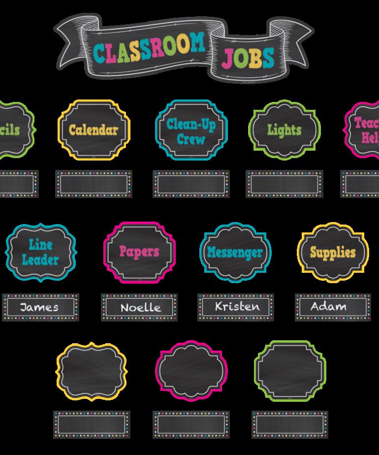 Classroom Jobs Mini Bulletin Board