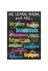 Chalkboard Brights We Learn, Grow, and Are...-Poster