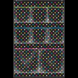 Chalkboard Brights 8 Pocket Mini Storage