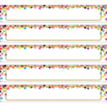 Confetti Large  Labels Magnetic Accents