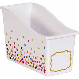 Confetti Confetti Plastic Book Bin