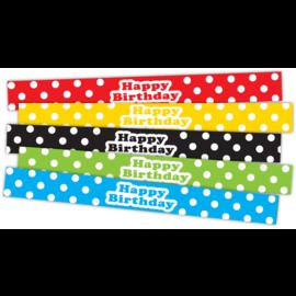 Polka Dots Happy Birthday Slap Bracelets