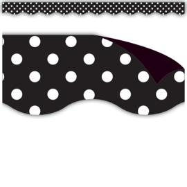 Black Polka Dot Magnetic Border