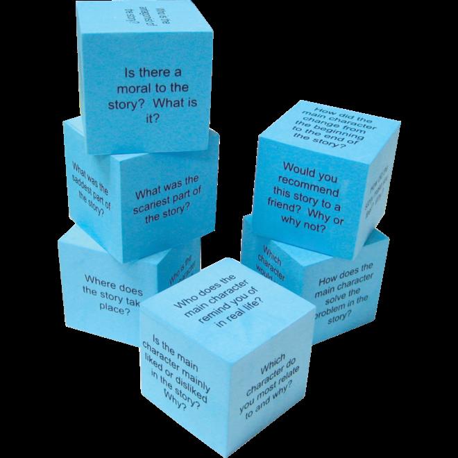 Foam Reading Comprehension Cubes