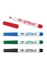 4-Pack Wipe-Off Markers-Standard Colors