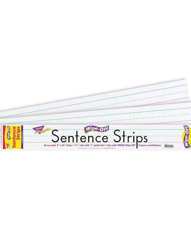 "24"" Write On Wipe-Off Sentence Strip"
