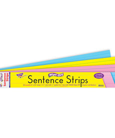 "24"" Multicolor Wipe Off Sentence Strips"