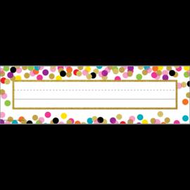 Confetti Flat Name Plates