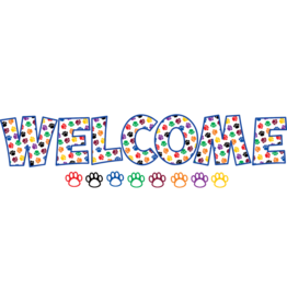 Paw Prints Welcome Bulletin Board