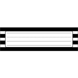 Simply Stylish Black & White Stripe Nameplate