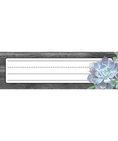 Simply Stylish Succulent Nameplate