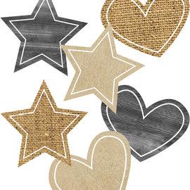 Simply Stylish Burlap Stars & Hearts Accents
