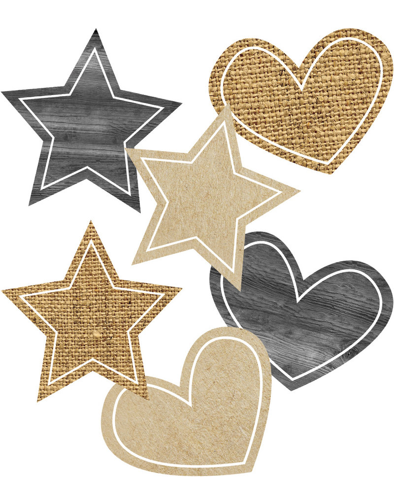 Simply Stylish Burlap Stars & Hearts Accents