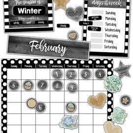 Simply Stylish Succulent Calendar Bulletin Board