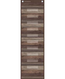 Dark Wood File Pocket Chart