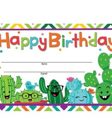 Cactus Happy Birthday Award